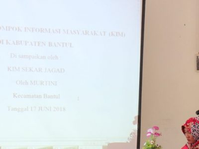Sosialisasi KIM dilaksanakan oleh Diskominfo Bantul di Kecamatan Bantul sebagai rangkaian kegiatan Sosialisasi KIM Tk. Kecamatan