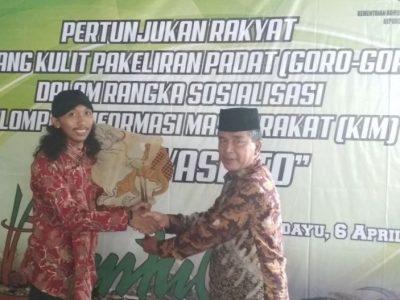 Pagelaran Wayang Kulit Cerita Padat (Goro-Goro) oleh Dalang Ki Fajar Sambudi sebagai media diseminasi informasi tentang IUMK (06/04)