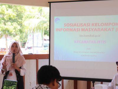 Sosialisasi KIM Tingkat Kecamatan oleh Diskominfo Bantul dilaksanakan di Kecamatan Jetis (18/06)