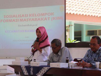 Sosialisasi KIM Tingkat Kecamatan oleh Diskominfo Bantul dilaksanakan di Kecamatan Bambanglipuro (17/07)