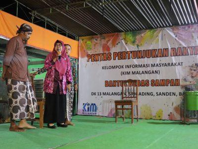 Ketoprak Mataram Dan Band Muda-Mudi Mengisi Pertunjukan Rakyat Yang Diselenggarakan Oleh KIM Malangan dan Diskominfo Bantul (18/08)