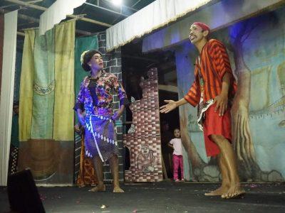 [Foto Dokumentasi] Pertunjukan Rakyat  Ketoprak oleh Diskominfo Bantul dan KIM Guyup Rukun Dusun Grogol, Parangtritis (20/08)