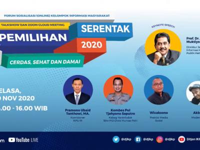 KIM Kabupaten Bantul Ikuti Sosialisasi (Online) Pilkada Serentak 2020