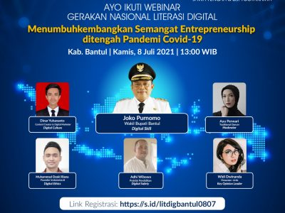 KIM Kabupaten Bantul Ikuti Webinar Literasi Digital